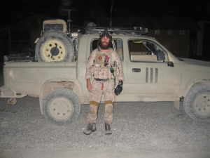 Chris in Afghanistan in gear